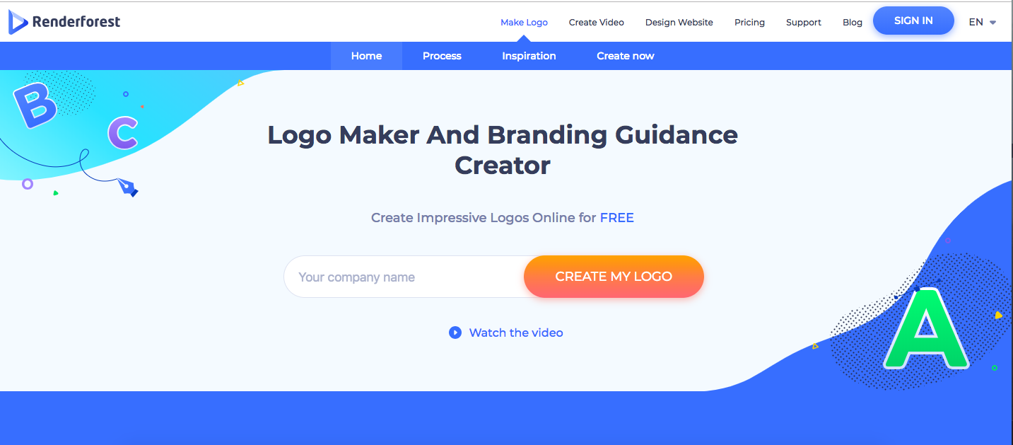 best Logo Maker renderforest