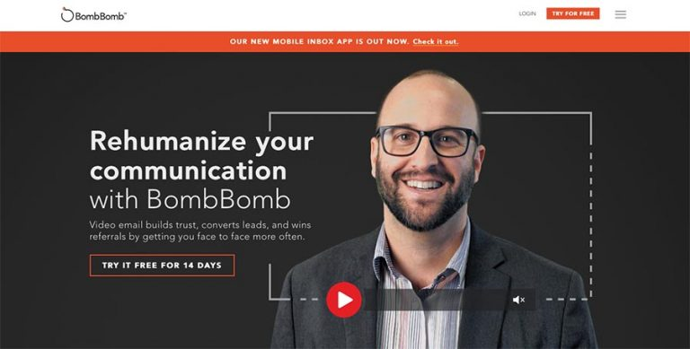 BombBomb email marketing tool