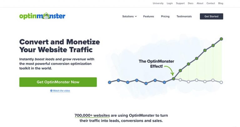 Optinmonster email marketing software