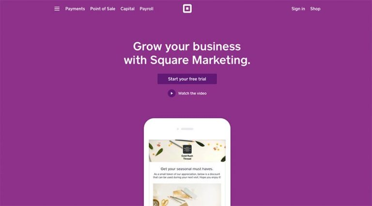 Square email marketing software