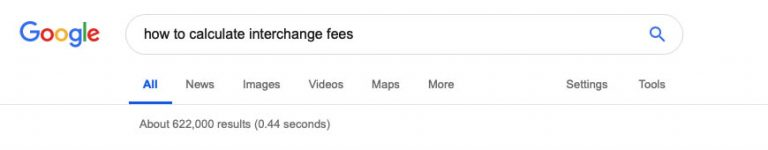 Interchange fees in Google