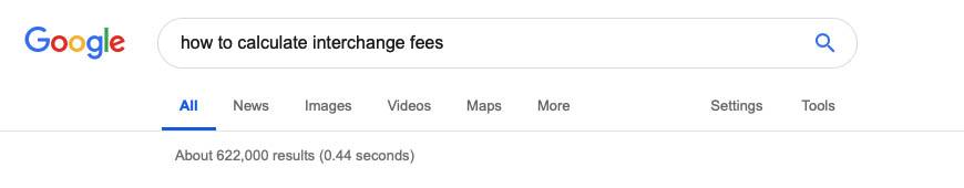 Interchange fees in Google