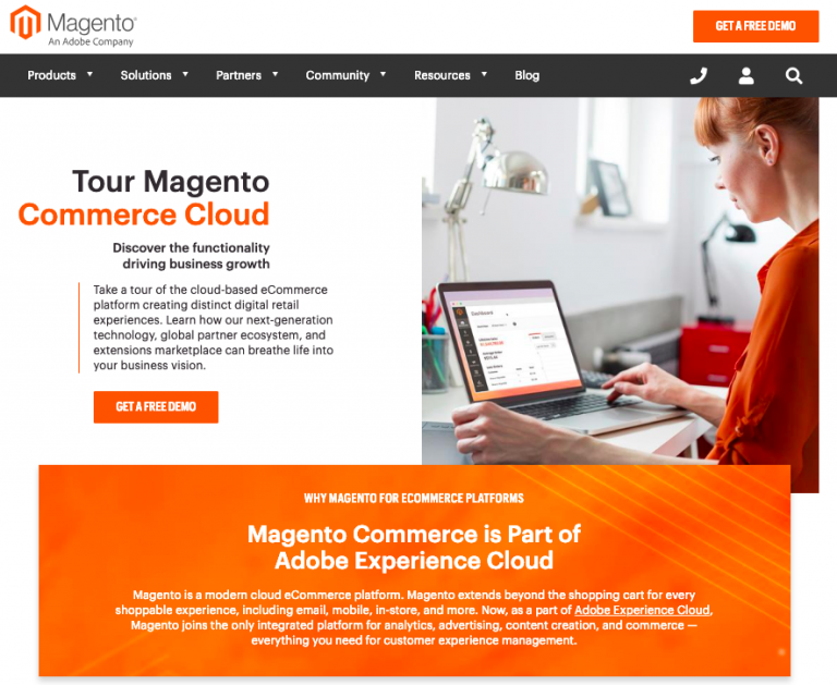 Magento eCommerce website builder