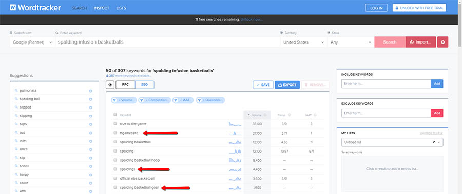 Refining Keyword Lists With Additional Research with  Wordtracker