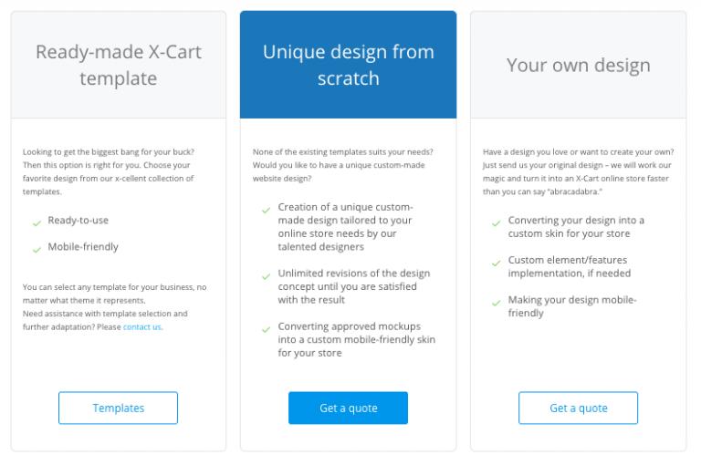X-Cart design