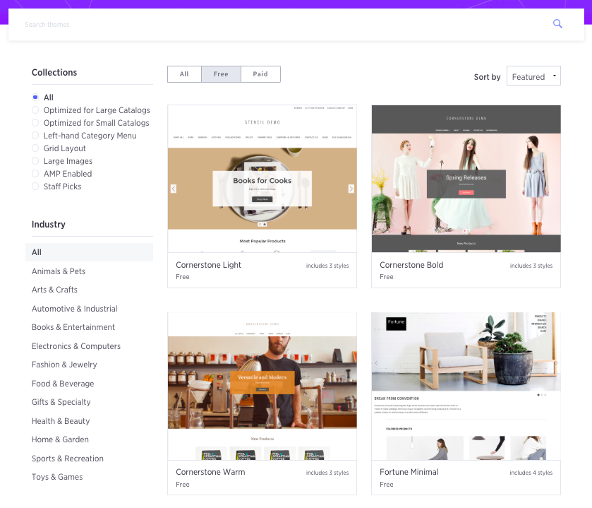 BigCommerce templates
