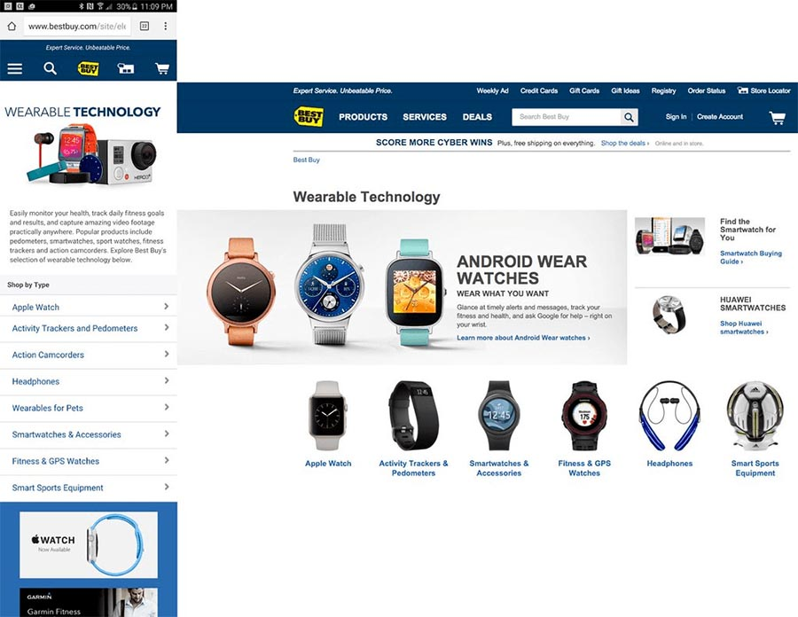 BestBuy multi-channel shopping experience