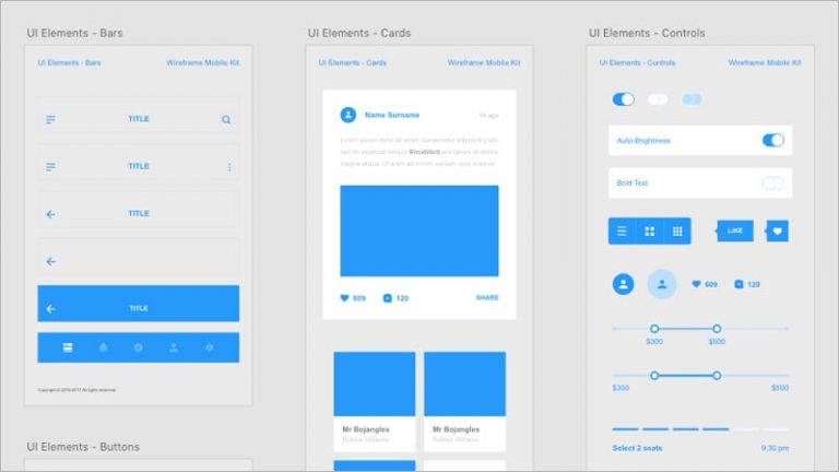 Wireframing and Interaction Prototypes