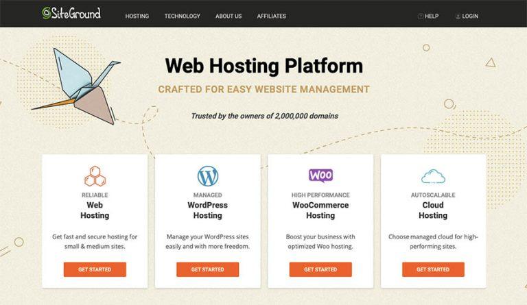 SiteGround Web Hosting Service Company