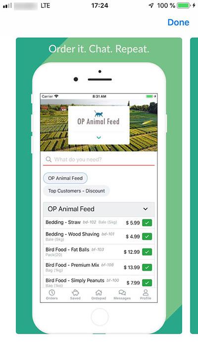 Ordapad mobile application