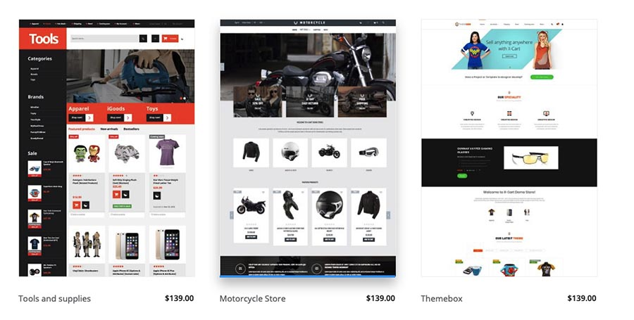 X-Cart eCommerce Design Templates