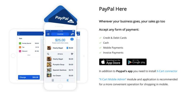 PayPal Here in X-Cart