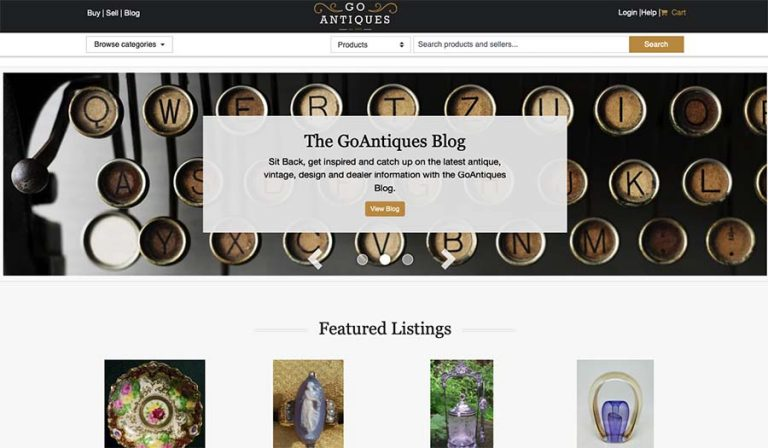 GoAntiques selling site