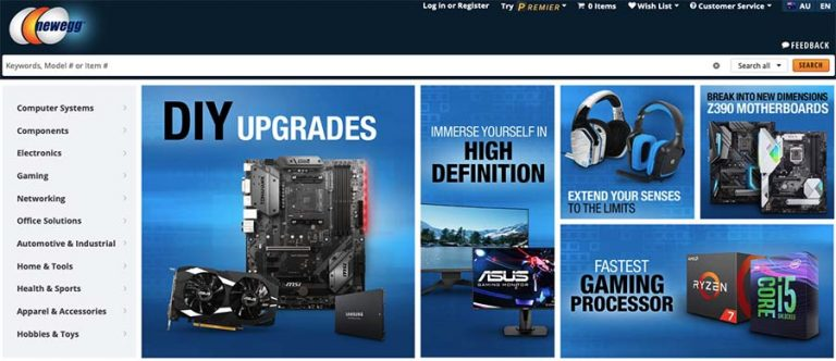 Newegg selling site