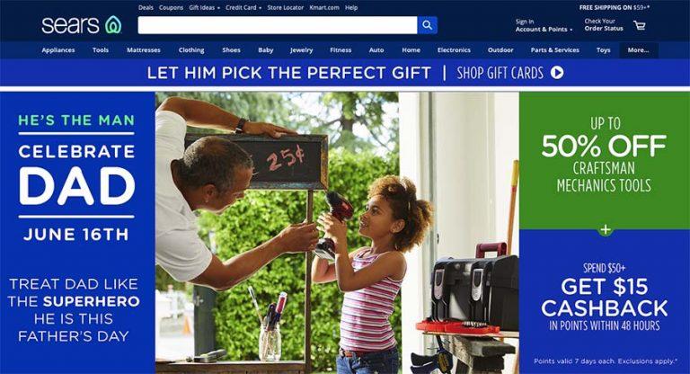Sears selling website