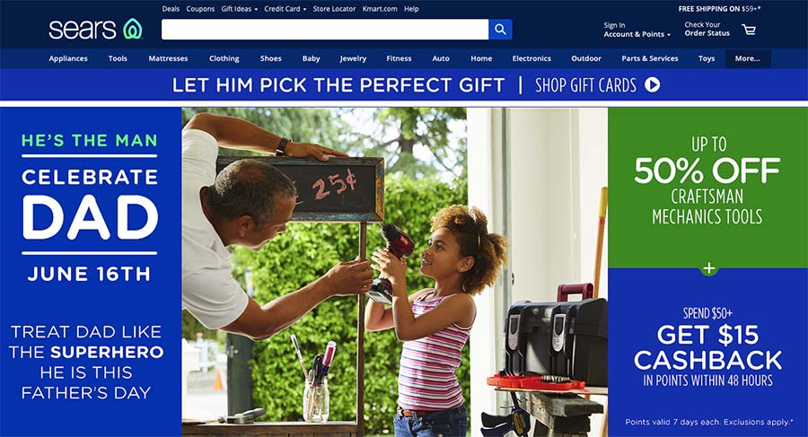 Sears selling website