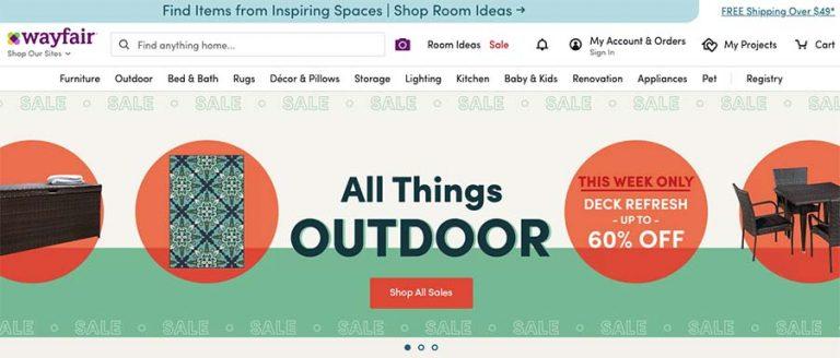 Wayfair selling website
