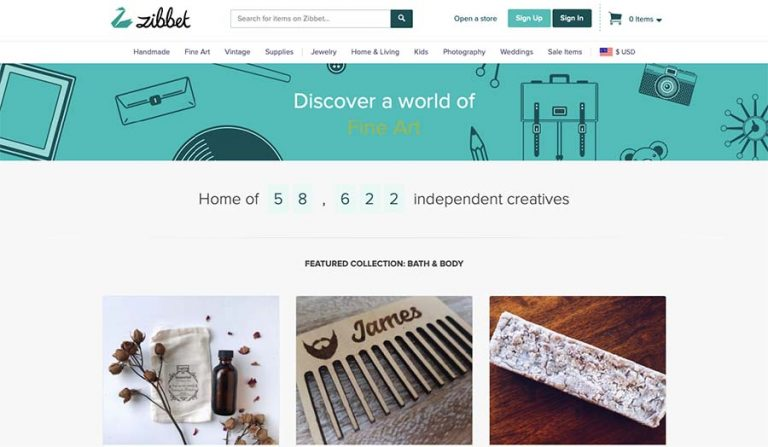 Zibbet selling site