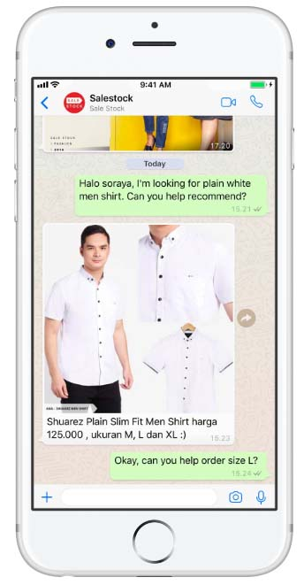 Indonesian Fashion retailer Using WhatsApp for Business