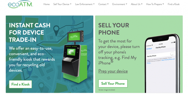 ecoATM device trade-in