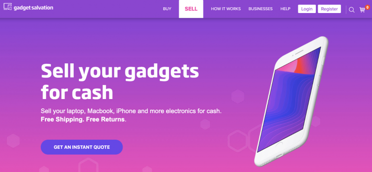Gadget Salvation sell gadgets for cash