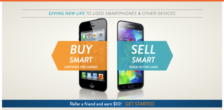 Gazelle sell used smartphones