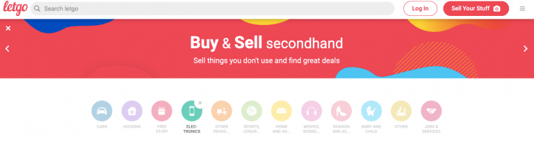 Letgo buy and sell secondhand electronics