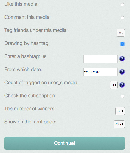 Giveawation Instagram Contests tool