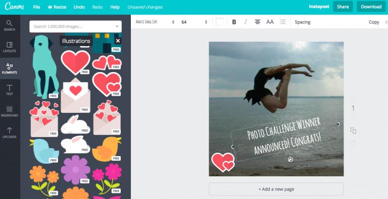 Canva Photo Editing tool