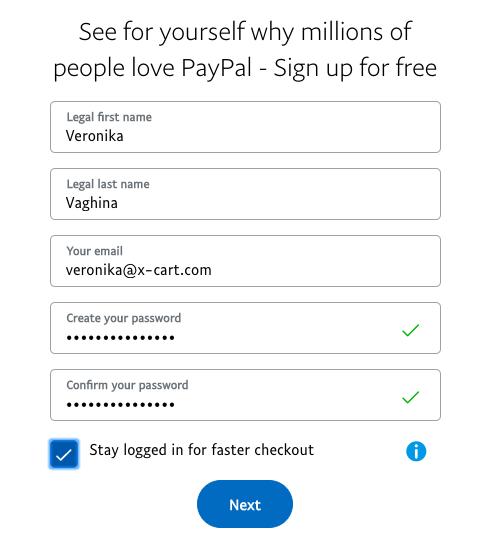 set up PayPal account