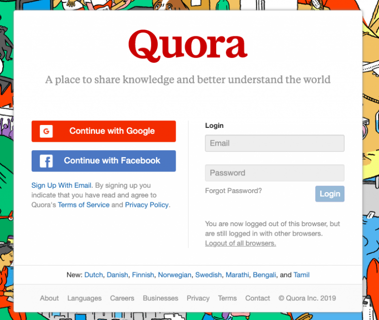 quora sign in