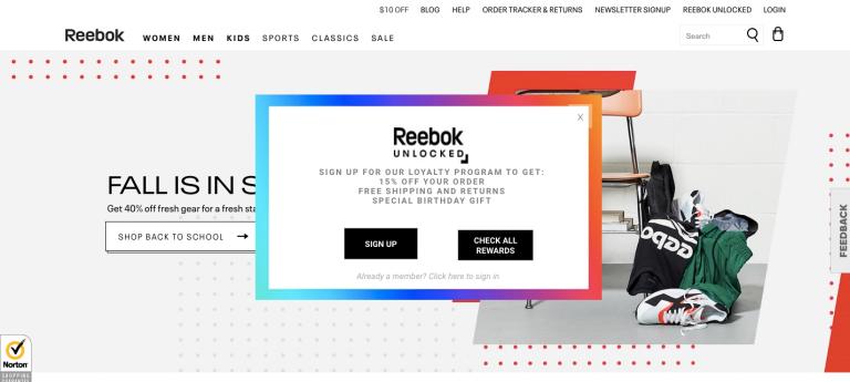 Reebok hyper personalization