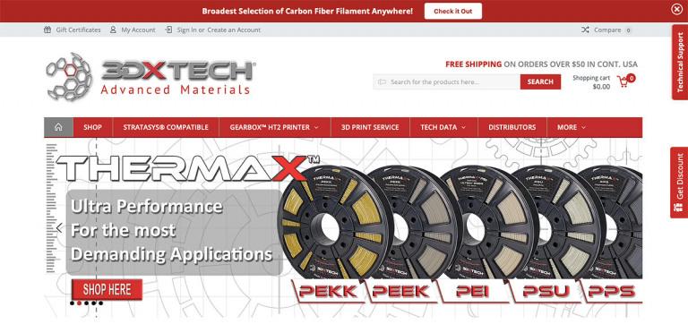 3DXTech B2B eCommerce Example