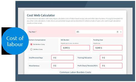 Website Costs Calculator