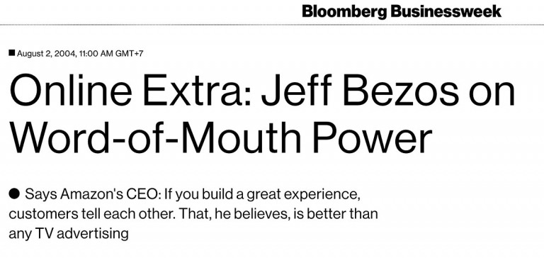Jeff Bezos on Word of Mouth Power