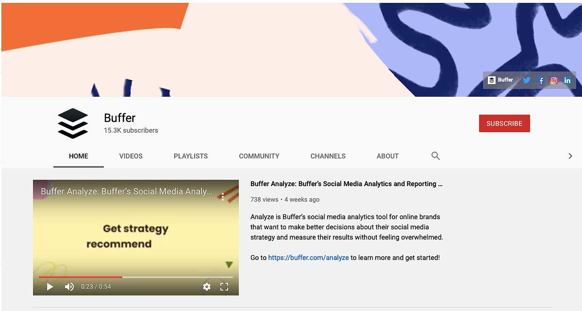 Buffer Social Media Marketing Video Blog