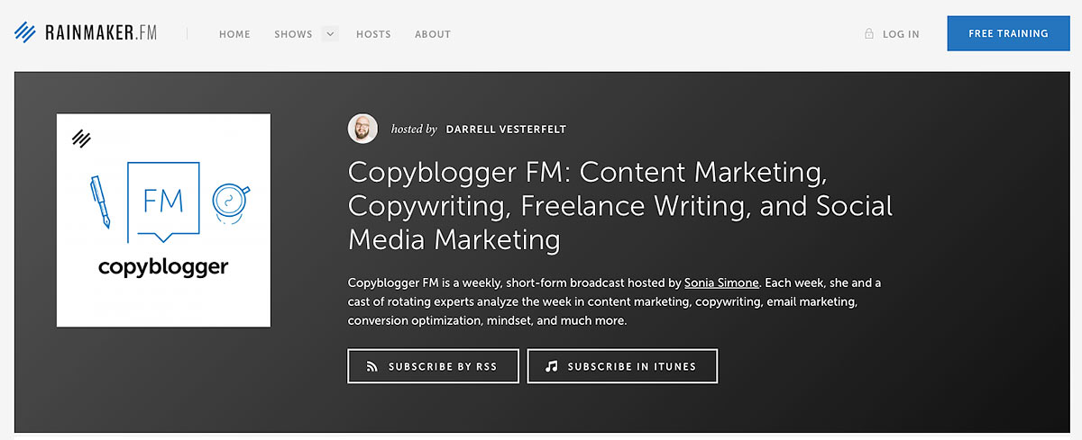 Copyblogger Social Media Marketing Podcast