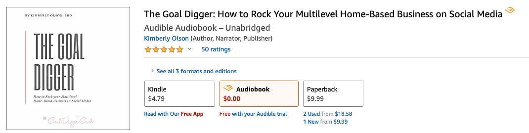 Goal Digger Social Media Marketing Audiobook