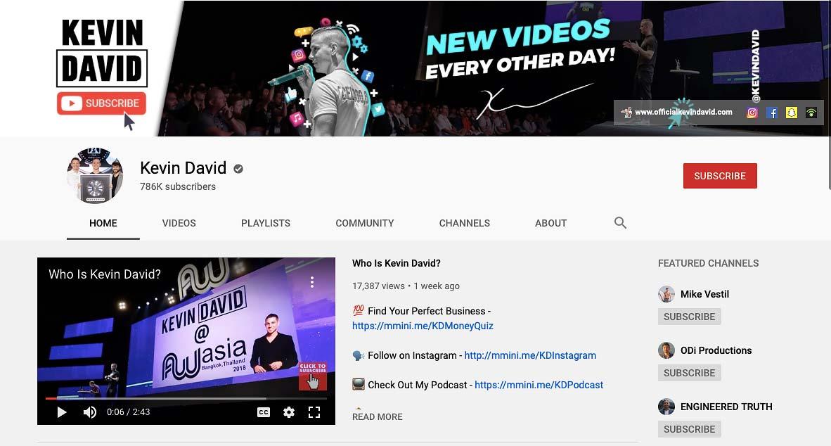 Kevin David Social Media Marketing Video Blog