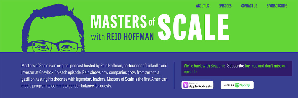 Masters of Scale Social Media Marketing Podcast