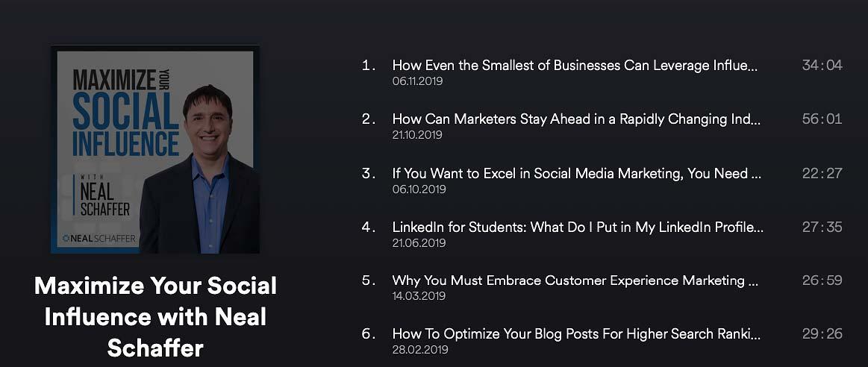 Neil Shaffer Social Media Marketing Podcast