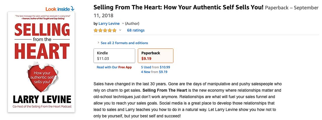 Selling From the Heart Social Media Marketing Book