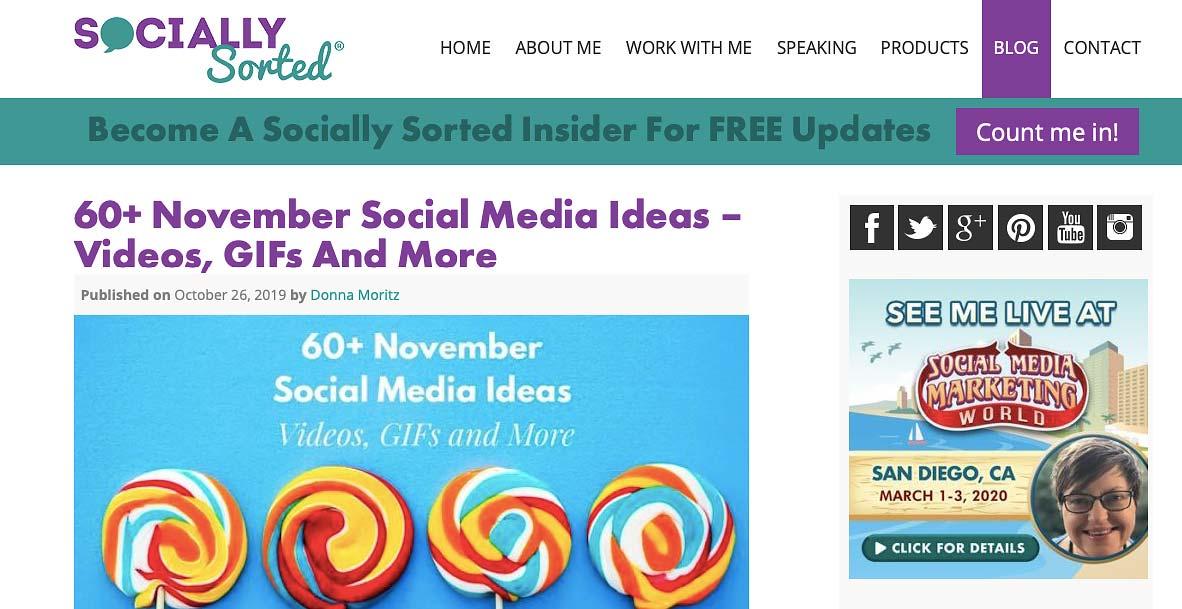 Socially Sorted blog