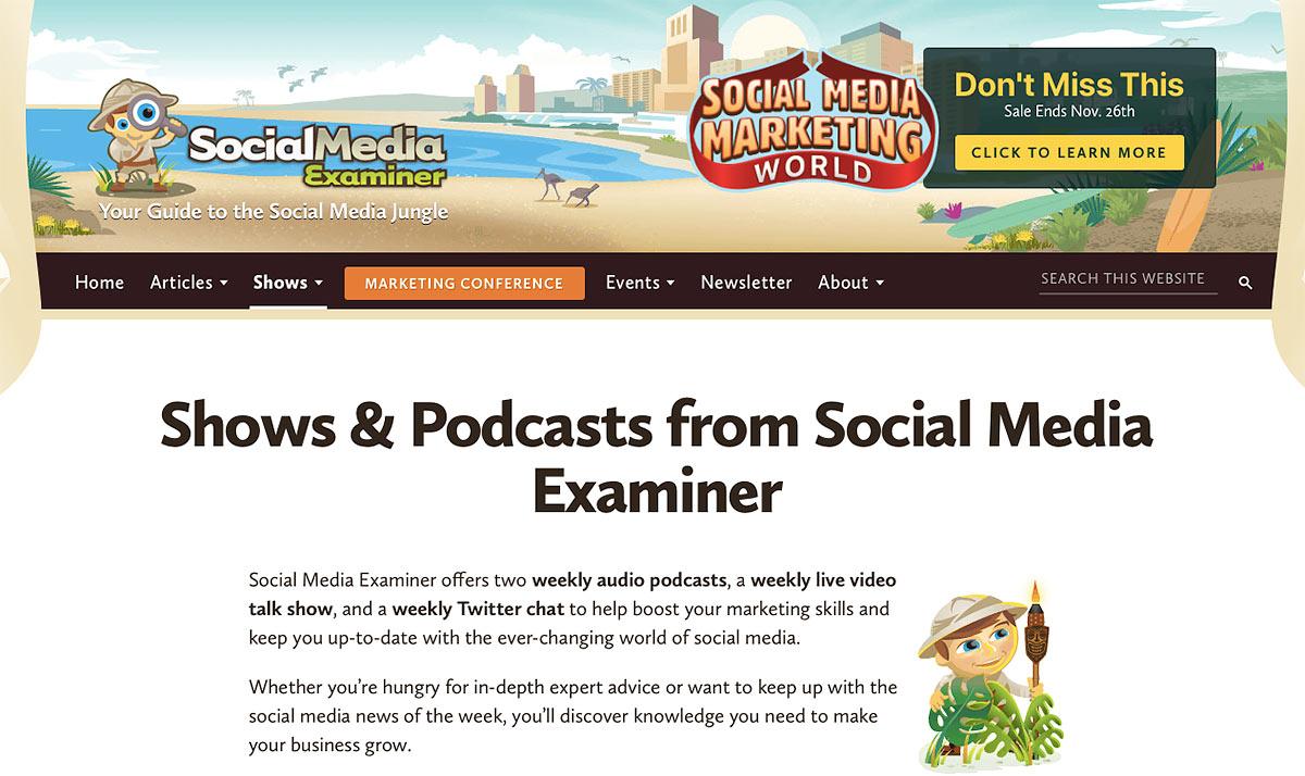 Social Media Examiner Podcast
