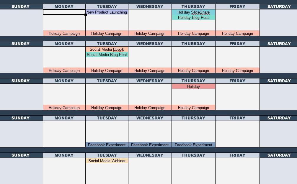 hubspot content calendar