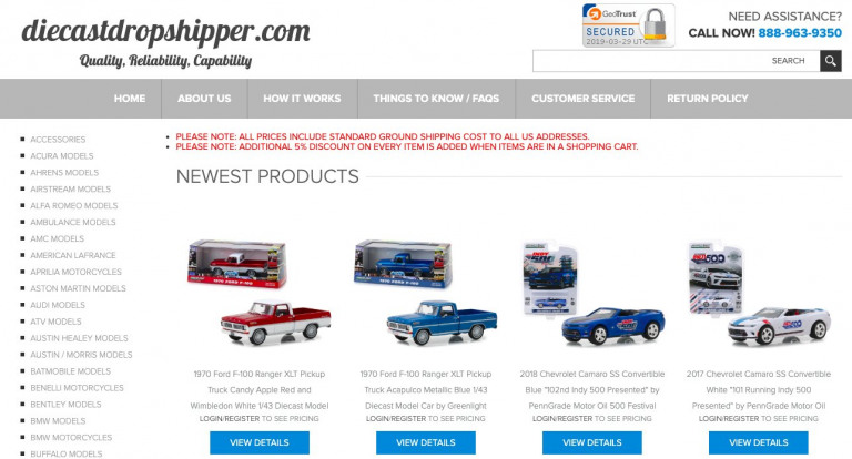 Die Cast Dropshipper