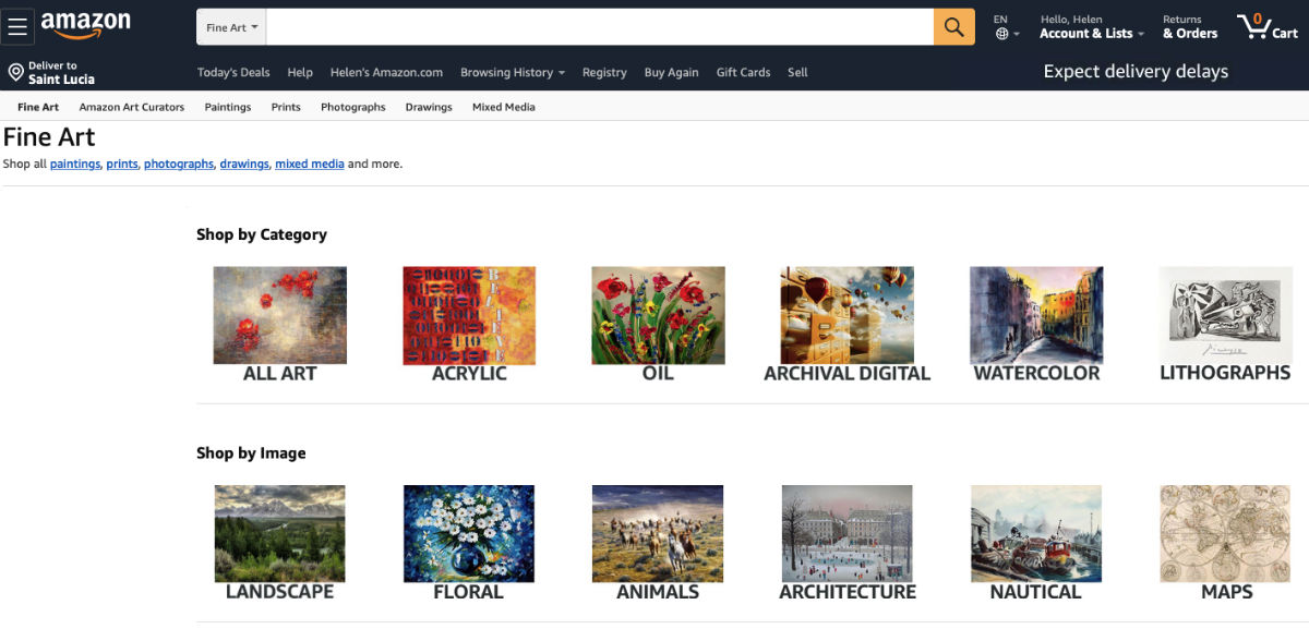Selling art online with Amazon