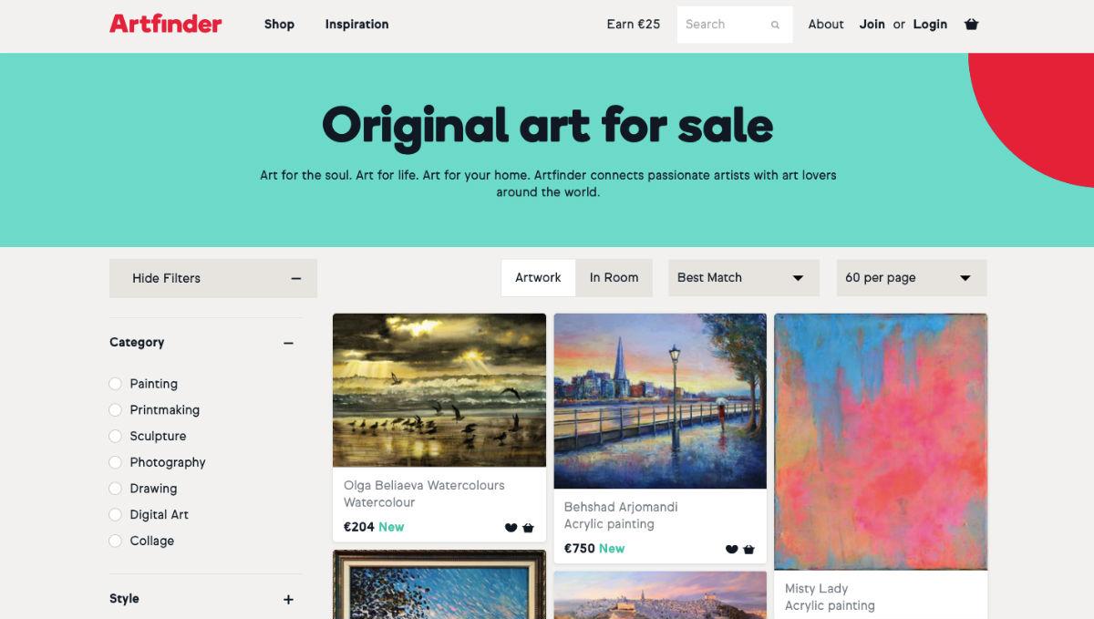 Using Artfinder to sell art online