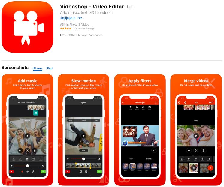 videoshop video editing app