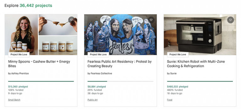 How to find a product on Kickstarter